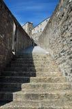 средневековый stairway Стоковые Изображения