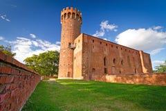 Средневековый Teutonic замок в Swiecie Стоковые Изображения RF