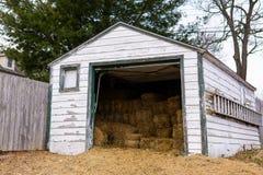 Среднезападный сарай сена стоковые фото