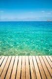 среднеземноморская пристань малая стоковая фотография rf