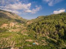 Среднеземноморская страна Испания стоковая фотография