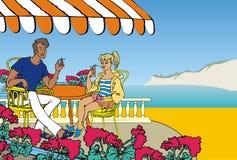 среднеземноморские каникулы иллюстрация вектора