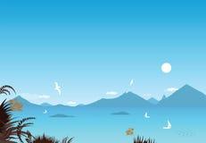 среднеземноморское взморье Стоковое Изображение