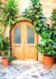 среднеземноморское двери переднее Стоковые Изображения