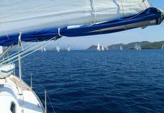среднеземноморское море sailing к Стоковое Фото