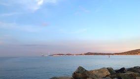Среднеземноморское побережье к югу от Франции сток-видео