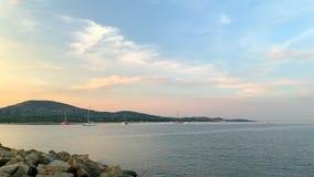 Среднеземноморское побережье к югу от Франции видеоматериал