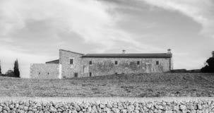 Среднеземноморское свойство на Мальорка, черно-белой стоковая фотография rf