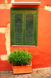 среднеземноморское старое окно Стоковые Изображения RF
