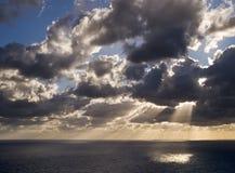 среднеземноморское сумерк стоковое изображение