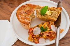 среднеземноморское хлеба домодельное Стоковая Фотография