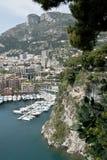 среднеземноморской взгляд Монако Стоковая Фотография