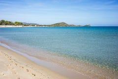 Среднеземноморской взгляд пляжа Стоковые Изображения