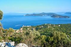 Среднеземноморской голубой seascape стоковое фото rf