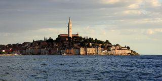Среднеземноморской городок Rovinj, Хорватия Стоковое Изображение RF
