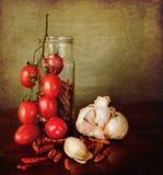 среднеземноморской красный цвет spices томаты Стоковая Фотография