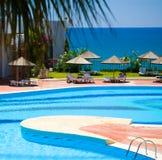 среднеземноморской курорт стоковые изображения rf
