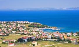 среднеземноморской маленький город стоковое фото rf