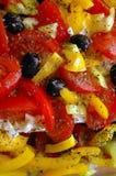 среднеземноморской салат Стоковое фото RF