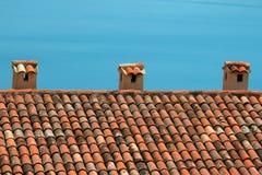среднеземноморской тип крыши Стоковые Фотографии RF