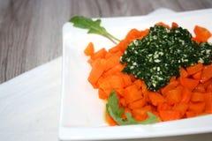 Среднеземноморской antipasto Свежие, очень вкусные моркови стоковое фото