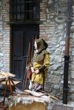 Средние возрасты в рынке Erba средневековом - районе Villincino понедельника 13-ое мая 2018 стоковое изображение