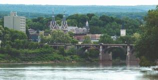 Средний американский городок стоковое фото rf
