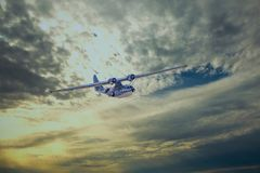 Средний бомбардировщик полуглиссера PBY-5A Каталины стоковое изображение