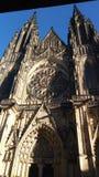 Средний возраст Праги, готический стиль, церковь, стоковая фотография