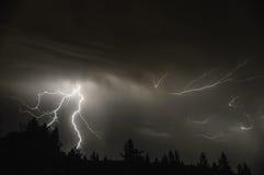Средняя гроза долины Willamette Стоковые Фото
