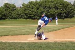 средняя школа бейсбола Стоковое Изображение