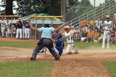 средняя школа бейсбола Стоковые Изображения RF