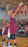 средняя школа девушок баскетбола Стоковое Изображение RF