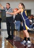 средняя школа девушок баскетбола Стоковая Фотография RF