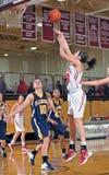 средняя школа девушок баскетбола Стоковое Изображение