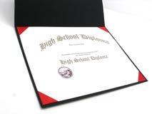 средняя школа диплома родовая стоковое изображение