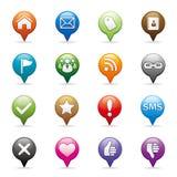 средства иконы социальные Стоковая Фотография RF