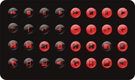 средства иконы установили сеть Стоковое фото RF