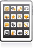 средства икон знонят по телефону франтовскому социальному вектору иллюстрация штока