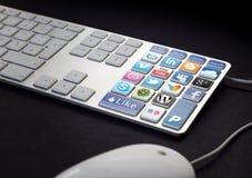 средства клавиатуры социальные стоковое изображение rf