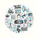Средства массовой информации и концепция новостей иллюстрация вектора
