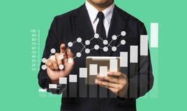 Средства массовой информации маркетинга цифров в виртуальном экране Бизнес стоковые фотографии rf