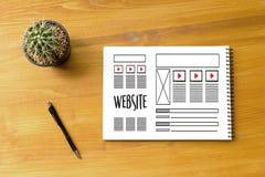 Средства массовой информации WW программного обеспечения чертежа эскиза плана деятельности вебсайта дизайнерские Стоковое Изображение