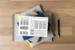 Средства массовой информации WW программного обеспечения чертежа эскиза плана деятельности вебсайта дизайнерские Стоковая Фотография