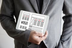 Средства массовой информации WW программного обеспечения чертежа эскиза плана деятельности вебсайта дизайнерские Стоковые Фото