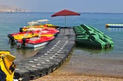 средства eilat пляжа резвятся вода Стоковое Фото