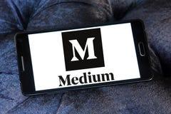 Средств логотип вебсайта Стоковая Фотография