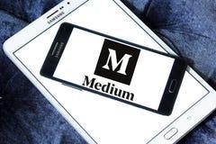 Средств логотип вебсайта Стоковые Изображения RF