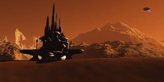 Среда обитания Марса Стоковое Фото