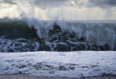 Средиземное море в занавесах стоковые фото